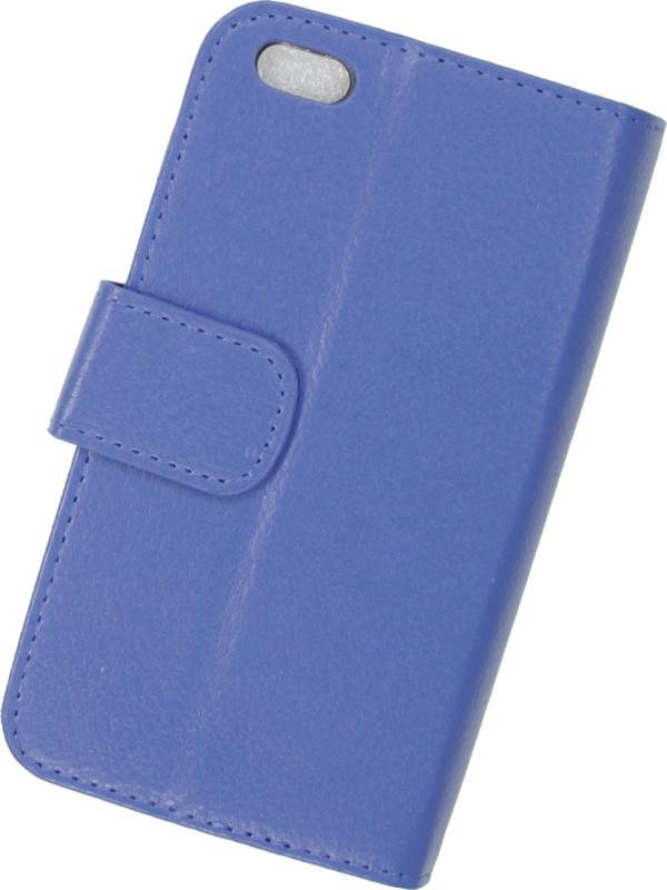wholesale dealer 9f2af fcbdb Blue Iphone 6 Textured Leather Wallet Case