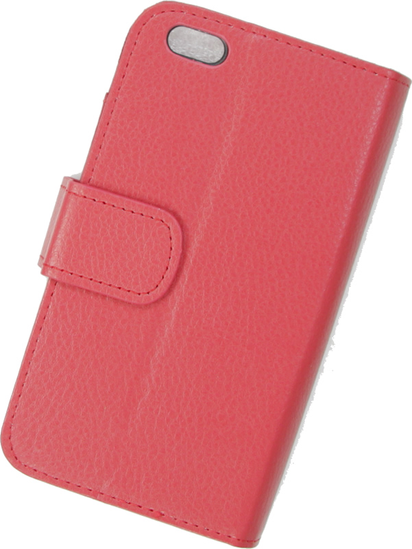 outlet store 170b3 fb00a Red Iphone 6 Textured Leather Wallet Case