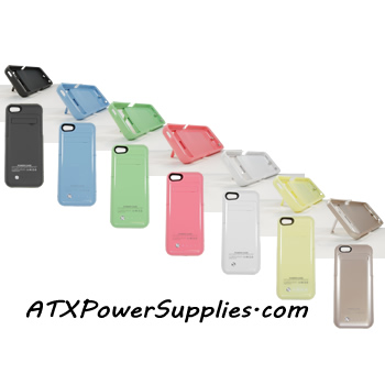 iPhone 5 5S 5C 2200 mAh Powered Charging Case